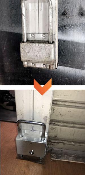 シャッター中柱修理