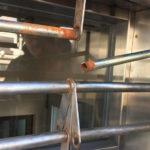 茨木市で電動パイプシャッター修理工事前