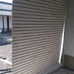 田尻町でシャッター中柱抜け復旧修理工事前