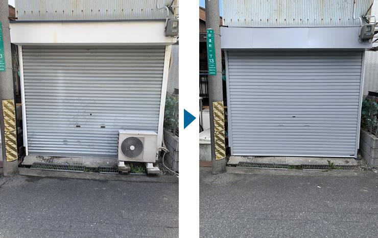 大阪市でシャッター座板交換工事
