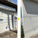堺市N邸様倉庫シャッター飛び込み復旧工事