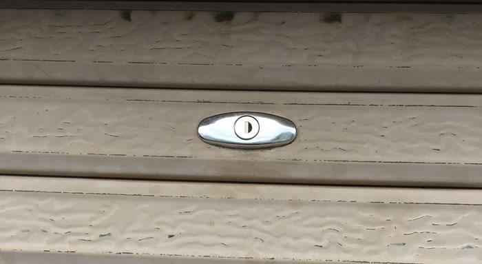 千早赤阪村でガレージ鍵交換工事後