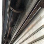 能勢町でシャッター修理|シャフト交換工事前